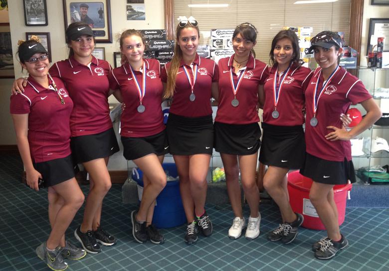 Girls team - left to right:  Katya Martinez, Jocelyn Gonzalez, Sammie Lopez, Sarah Marchan, Sara Casarez, Daniela Robles, Celica Quintana