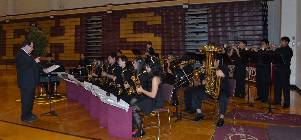 La Feria High School Concert Band provides music for the breakfast. Photo: LFCISD