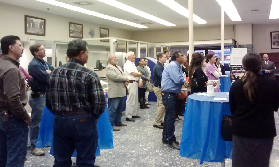 Forty to fifty members and prospective members of the La Feria Chamber of Commerce attended a recent mixer sponsored by the Compass Bank. Photo: LF Chamber