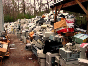 A bill being debated at the Texas State Capitol would require manufacturers to follow accredited standards or to use a certified electronics recycler. Old electronics contain heavy metals and toxins that can leach into the ground and water if not disposed of properly. Photo: Curtis Palmer/TNS