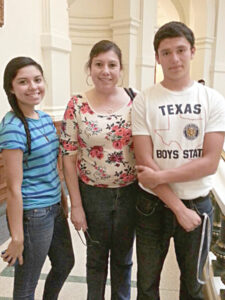 County Surveyor Jesse Vega with his mom and sister on Parents Day. Photo: Cindy Hinojosa
