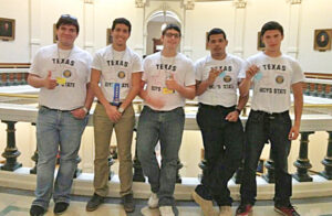 Boys State representatives of La Feria from L to R: Benjamin Facundo, Samuel Hinojosa, Michael Clancy, Christian Banos, and Jesse Vega. Photo: Cindy Hinojosa