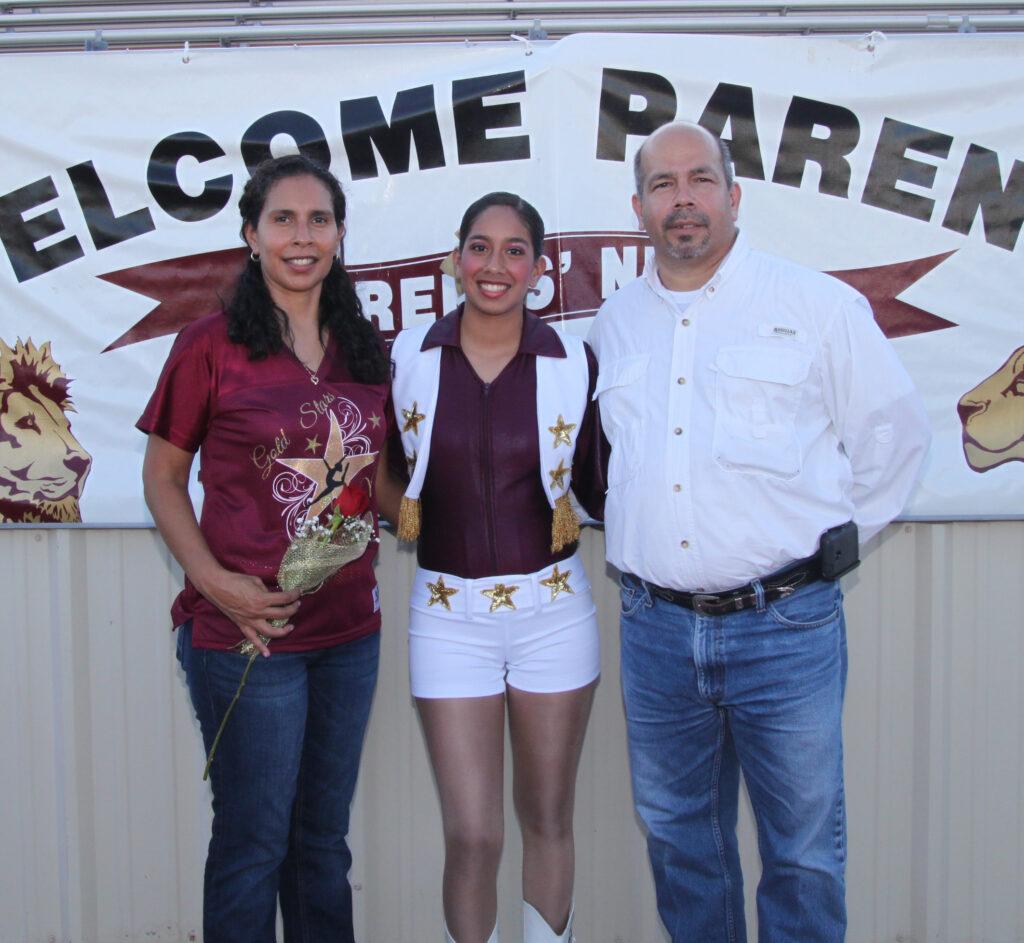 Ester Casarez with her parents.