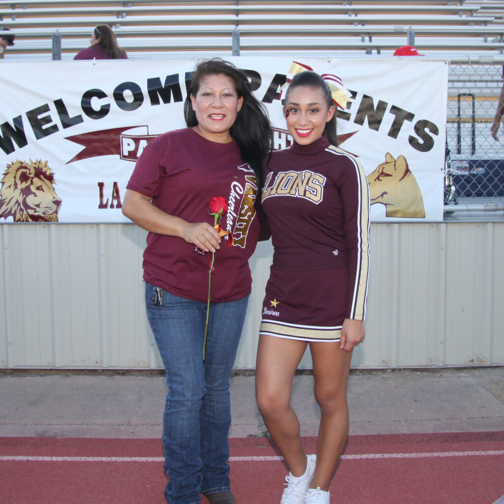Desiree Perez and her mother.