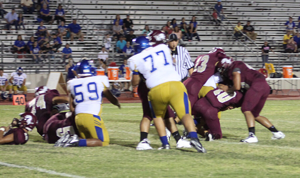 Heavy pressure by the Lion Defense shuts out the Vaqueros.