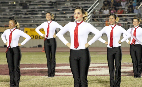 Gold Stars performing during halftime.