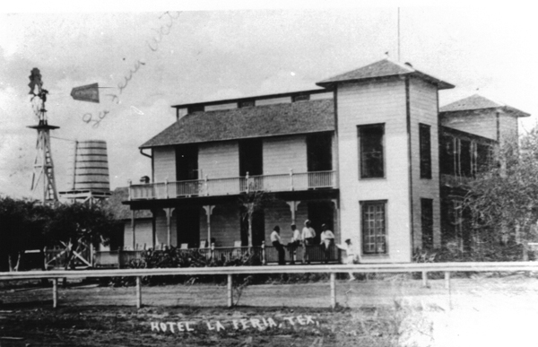 Built in 1910 by real estate developer and director of the First National Bank of La Feria S.J. Schnorenberg, The La Feria Hotel. Many of the early settlers of the township spent their first nights there. The hotel stood at the corner of Main St. and U.S. 83 where La Feria Bakery stands today.