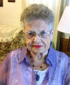 Roumania (Sally) Wenke honored on her 101th birthday celebration, May 14, 2015.