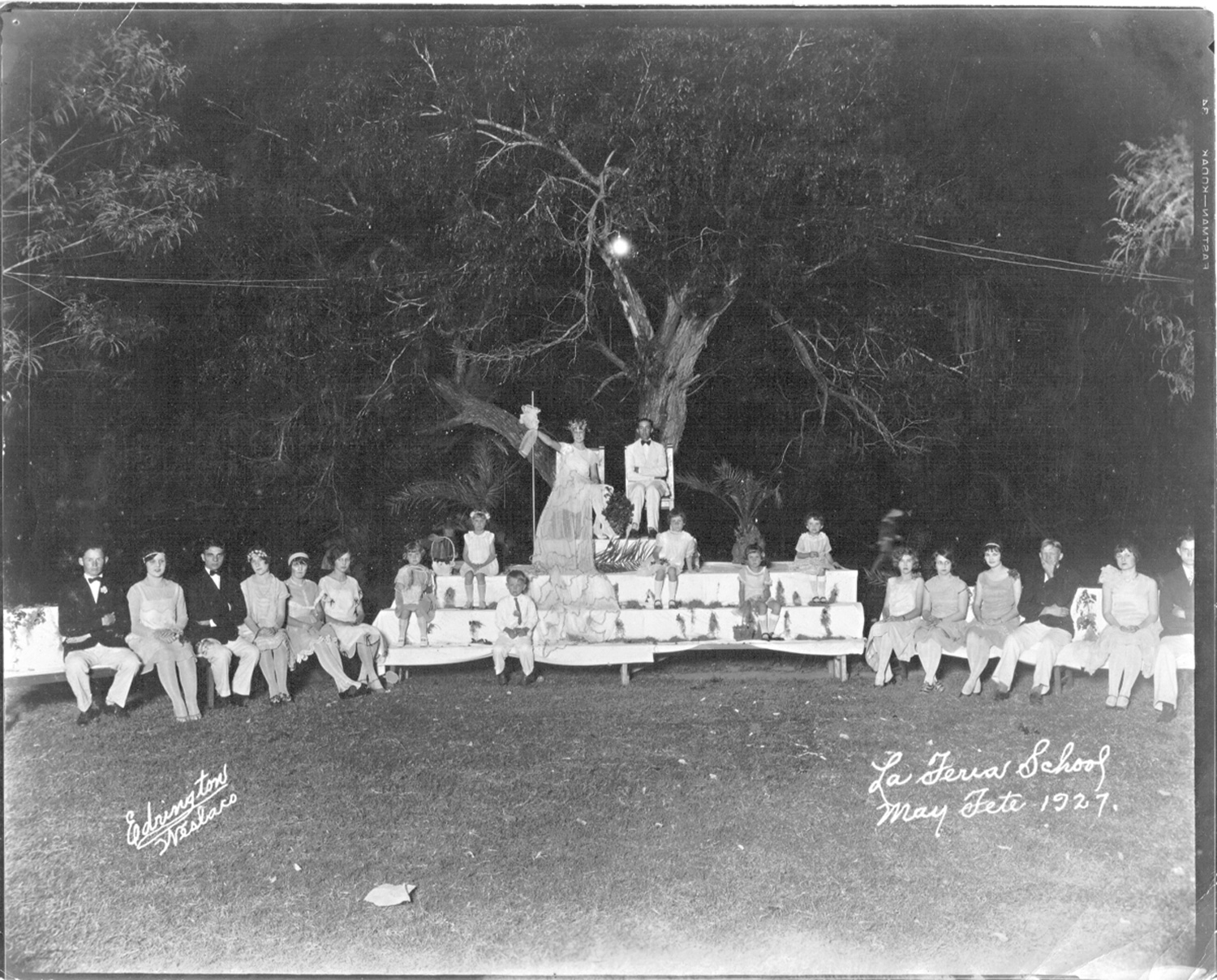 A photo dated 1927 and marked La Feria High. Possibly a Homecoming photo or Spring Carnival. Photo: LFN Archive