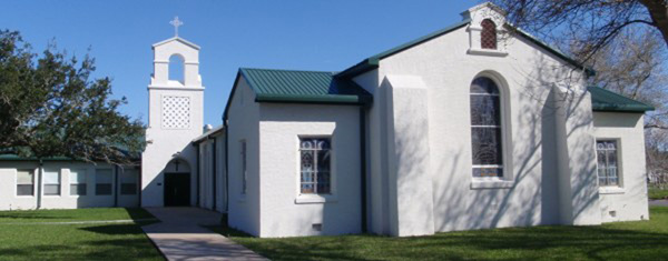 The church as it looks today. The original building was sold in 1948 and moved to Elsa, Texas to be used as the Mexican American Methodist Church. Photo: laferiafumc.com.