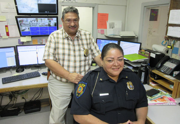 La Feria Police Station will become the Emergency Command Headquarters: Police Chief Don Garcia and Communication Sergeant Elisa Rodriguez will handle all emergency communication during a hurricane warning.
