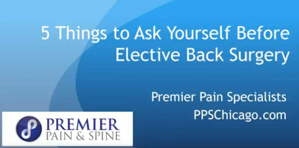 5 things to ask before elective back surgery
