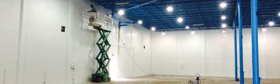 Broward Paint and Seal completes 13,000 sqft. warehouse interior painting.