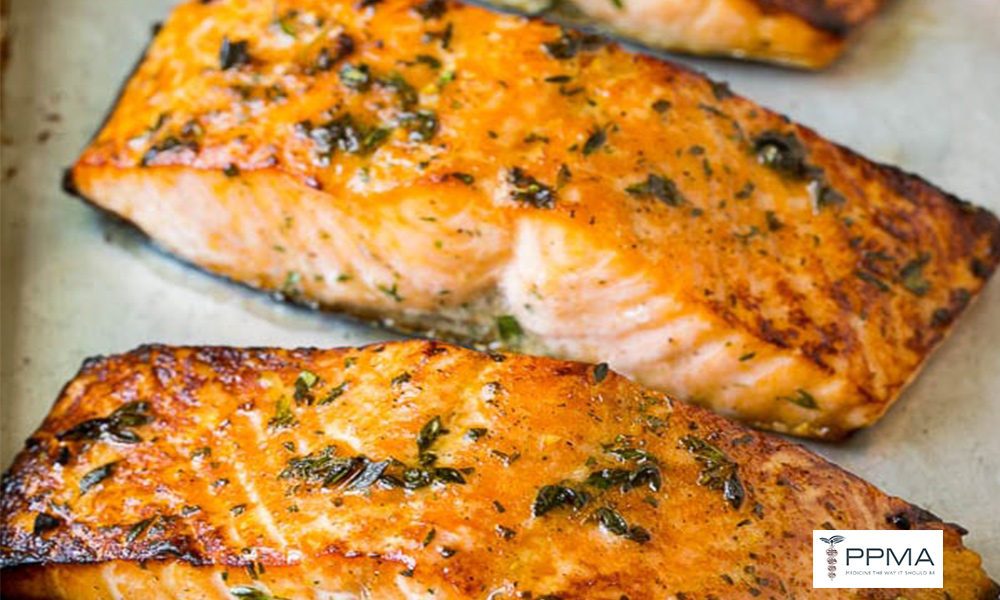 Broiled Salmon with Rosemary healthy meals ppma private physicians medical associates
