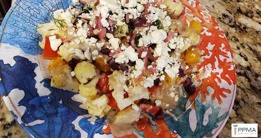 souvlaki and spiced pears cooking class one