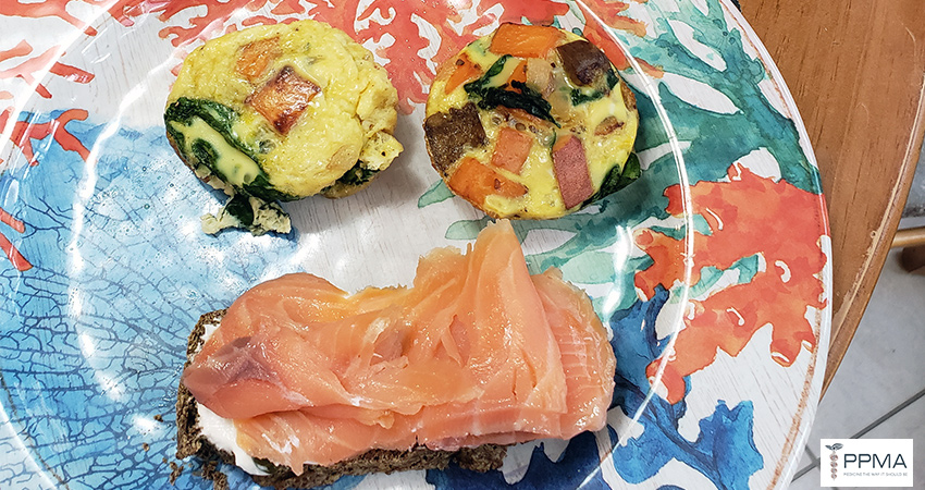 Spinach & Sweet Potato Egg Muffins PPMA Cooking @ Home Series private physicians medical associates