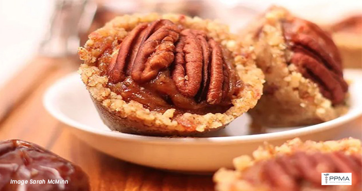 Raw Pecan Pie Tartlets 3-ingredient vegan pecan tartletshealthy recipes nutritionist dietitian Private Physicians Medical Associates PPMA Newport Beach OC CA SoCal