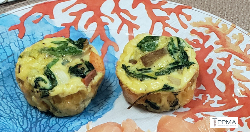 spinach sweet potato egg muffins healthy recipes nutritionist dietitian Private Physicians Medical Associates PPMA Newport Beach OC CA SoCal
