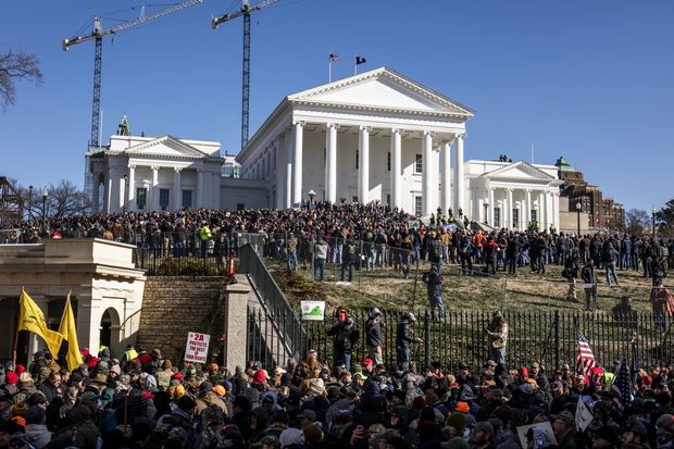 The rally of Gun-rights activists and gun violence in the United States