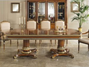"Royal Dining  Dining Table / 98.4""+19.7""+19.7""X51.1""X32.2"