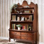 LV-555 SMALL BOOK CABINET              (55xW16.5xH77)