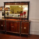 E68 Buffet& Mirror  Buffet , 78.74 x 21.25 x 36.22, Mirror 68.89 x 2.7 x 43.70