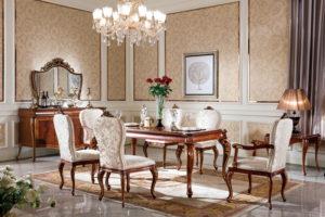 E70-2 Dining Room  Long Dining Table 70.9 x 37.4 x 29.9 / Side Chair 23.6 x19.3 x 41.3/ Arm Chair 24.4 x 21.3 x 41.3/ Buffet 70.9 x 21.7 x 38/ Mirror 54.9 x 1.6 x 39.8