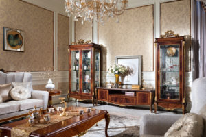 E70-2 living room cabinet  2 Door Showcase 41.7 x 19.7 x 84.9/ Single Showcase 29.5 x 19.7 x 84.9/ Floor Cabinet 72.8 x 20.9x 23.6/Coffee Table 57.1 x 31.5 x 18.9/Small Round Table 23.6 x 23.6