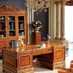 E62 Study  B   Writing Desk 78.74*39.37*30.70 / Bookcase  88.18 x 24.80 x 92.12 Executive Chair , 30.51 x 29.92 x 44.88