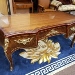 French style Desk Glass Top72x35x32.5