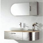 INF-3359 Vanity-18'' H x 43'' W x 19.6'' D  Mirror-12'' H x 20'' W x 0.7'' D  Side cabinet- 4.7'' H x 31.5'' W x 19.6'' D