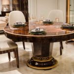 E72 round dining table-59x31