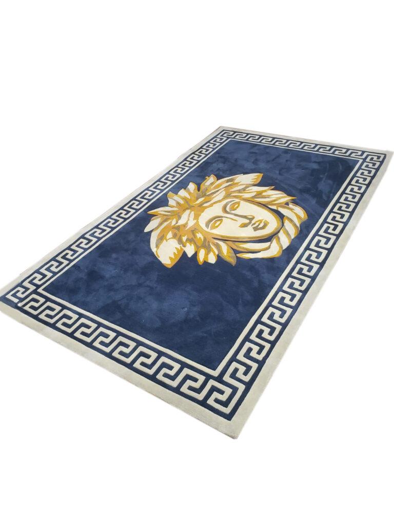 """E-10 Blue Carpet Rug 63""""W x 102.36""""H"""