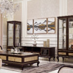 "E-71 Floor Cabinet 78.74""W x 17.72""D x 23.62""H E-71 long coffee table 55.12""W x 34.25""D x 17.72""H E-71 single showcase 23.62""W x 21.65""D x 74.80""H E-71 2-door showcase 37""W x 21.65""D x 74.8""H"