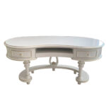 "INF-A2 White Executive Desk 65.7""x35.2""x32"""