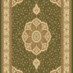 "RG-206 Sage Green Rug Size 1: 9' x 11'6"" Size 2: 7'10"" x 10'7"""