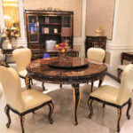 """E-70-1 Round Dining Table 59.06"""" W x 59.06"""" D x 30.71"""" H"""