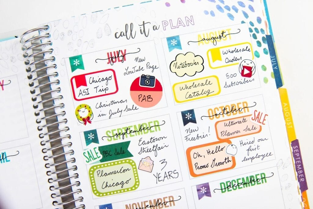 Monthly Accomplishment Tracking in My Erin Condren Life Planner