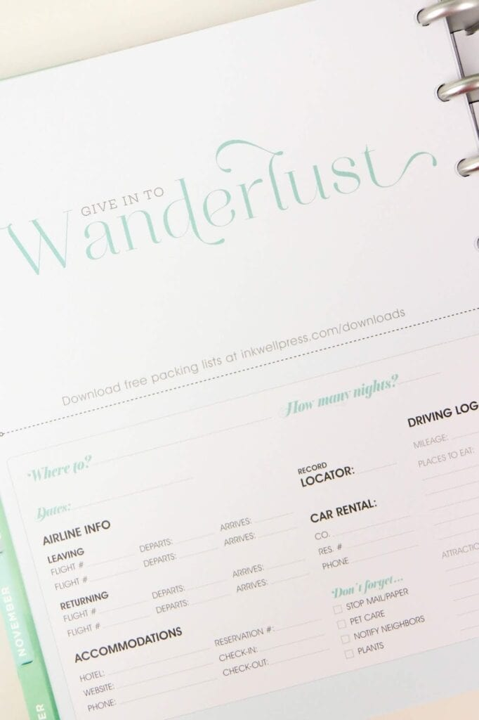 inkWELL Press Planner Review