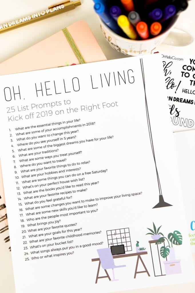 25 List Prompts to Kick Off 2019 on the Right Foot