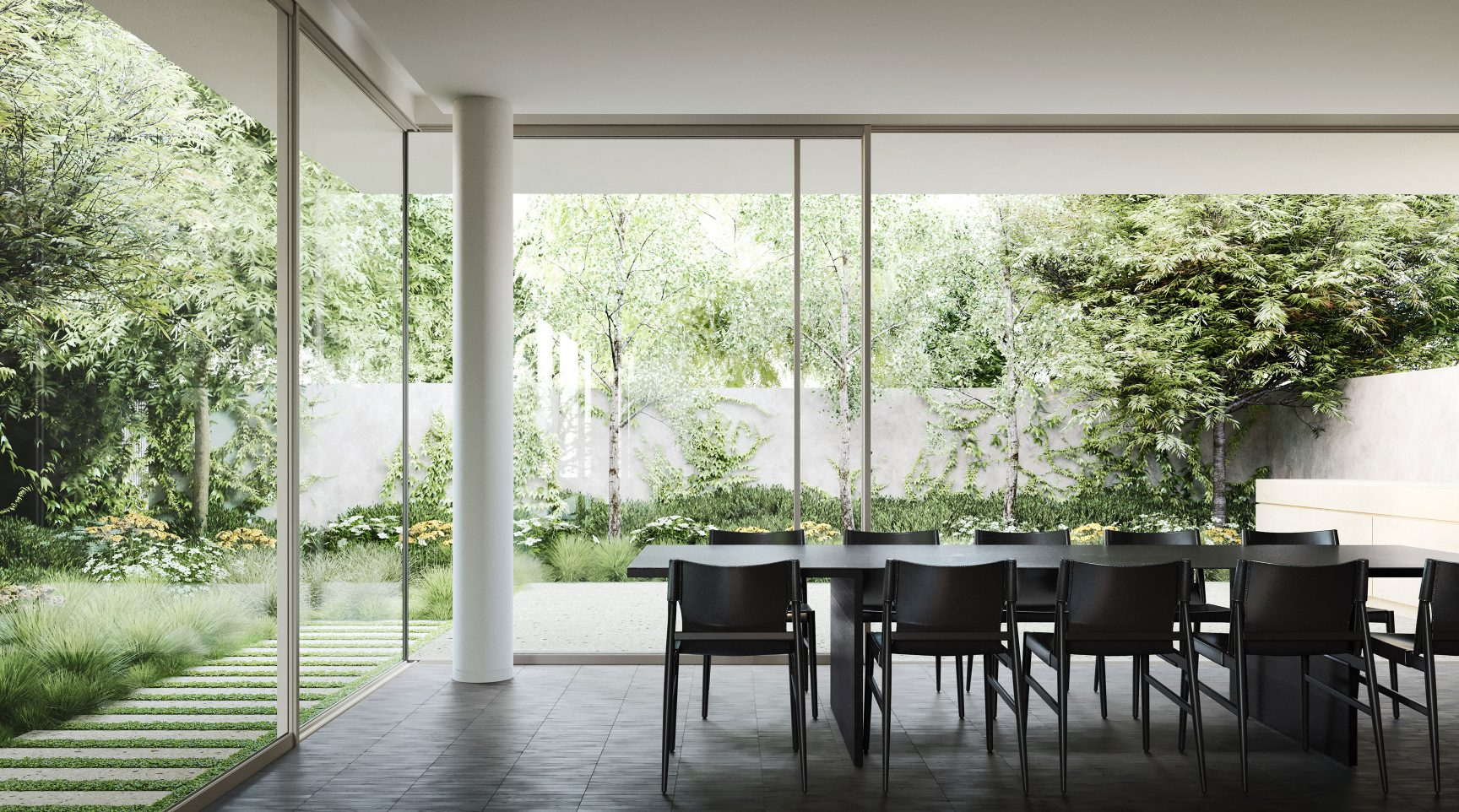 Heyington Toorak dining room set in garden