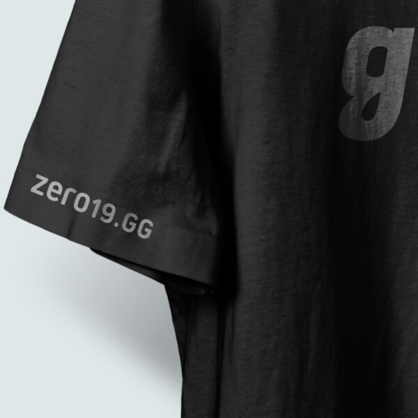 zero19 gg detail of gamer tee