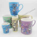 Sweden Watercolor Floral & Moose Matte Finish Whole Set