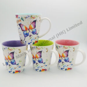 Butterfly Watercolor Taper Mug