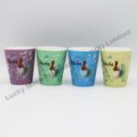 Alaska Watercolor Floral & Bird Shot Cup