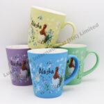 Alaska Watercolor Floral & Bird Taper Mug
