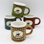 Moose Design Honeycomb Mini Mug