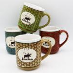 Moose Design Honeycomb Mug