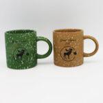 White Dots Moose Design Matte Finish Mini Mug