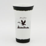 High Quality Fine Bone China Horn Shape White Shooter (Eagle Design)